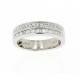 Bague or blanc & diamants 0.50 carat