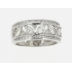 Bague or blanc & diamants 1 carat