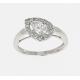 Bague or blanc & diamants taille poire