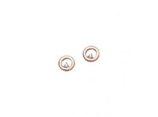 Boucles d'oreilles, diamants, or rose