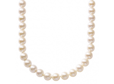 Collier - Perle Akoya, or blanc