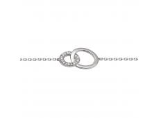Bracelet - Diamants, or blanc