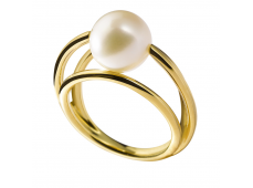 Bague - Perles de culture, or jaune