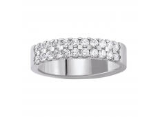 Alliances - Diamants 0,55 carat, or blanc