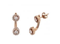 Boucles d'oreilles - Diamants, or rose