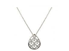 Collier - Diamants , or blanc