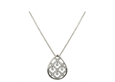 Collier - Diamants , or blanc