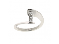 "Bague ""Envol Trilogy"" - Diamants, or blanc"