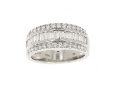 Bague - Diamants, or blanc