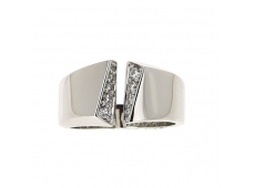 Bague - Diamants, or blanc,