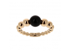 Bague - Onyx, or rose