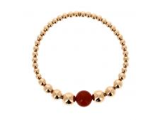 Bracelet - Cornaline, or rose