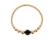 Bracelet - Onyx, or rose