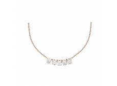 Collier - Diamants, or rose et blanc