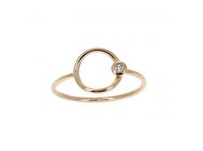 Bague - Diamants, or rose