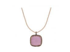 Collier - Diamants bruns et or rose