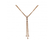 Collier - Diamants , or rose