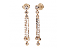 Boucles d'oreilles - Diamants, or rose
