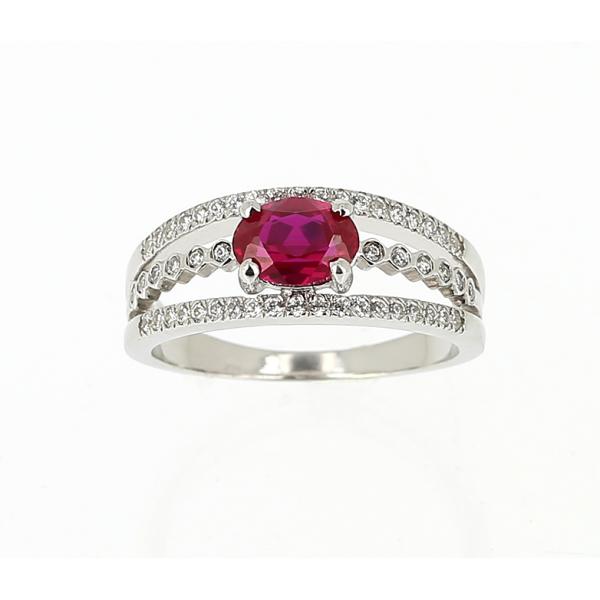 grand choix de 3bee5 ef968 Bague or blanc, rubis & diamants - Le Bijoutier des Créateurs