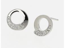 """Boucles d'oreilles """"Envol"""" or & diamants"""